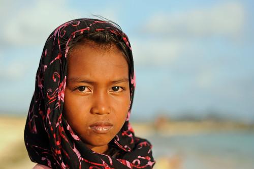 Girl on Kuta Beach, Lombok
