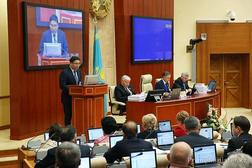 Министр экономики и бюджетного планирования Е.Досаев. Астана, 23.10.2013г.