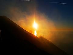 Pizzo Sopra la Fossa (robojoker) Tags: sunset sea sun island la explosion sicily eruption sicilia eolie stromboli aeolian pizzo sopra isole fossa eruzione vision:sunset=099