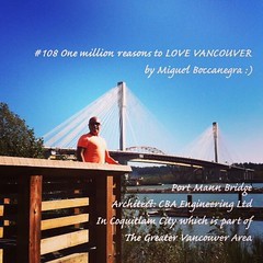 | no.108 | | Port Mann Bridge | (onemillionreasonstolovevancouver) Tags: world city people tourism home promotion architecture vancouver cool realestate profile coquitlam today l4l vancity downtownvancouver metrovancouver onemillion portmannbridge cityofvancouver vancouverite vancouvercity vancouvertourism vancouverrealestate vanone awesomevancouver instaphoto instagood instafollow uploaded:by=flickrmobile flickriosapp:filter=nofilter miguelboccanegra thegreatervancouverarea