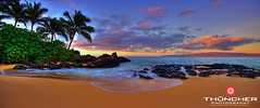 Secret Beach (Thūncher Photography) Tags: beach landscape hawaii nikon secretbeach scenic maui palmtrees pacificocean tropical fullframe fx hdr waterscape makena d700 nikond700 afsnikkor1635mmf4gedvr thephotographyblog