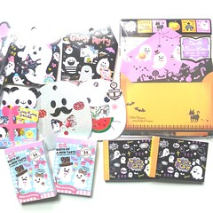 Halloween order from kawaii shop Japan! (maigo17) Tags: halloween pumpkin stickers memo kawaii ghosts stationery crux obake qlia ghosties stickersacks stickerflakes