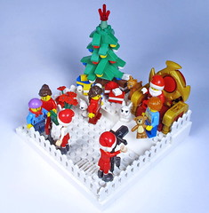 Visit with Santa (Bricksky) Tags: winter photo lego contest moc sanata eurobricks bricksky