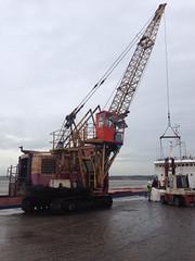 Mistley Quay (South Strand Trucking) Tags: river ship crane quay lorry essex forklift wrabness