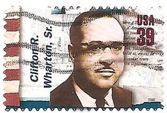 USA stamp - Clifton R Wharton - diplomat (sftrajan) Tags: usa stamps stamp timbre postagestamp philately sello briefmarke  francobollo sellopostal  commemoratives 39cents americandiplomats    cliftonrwharton