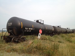 Better Days (Damalo Photo) Tags: weeds montana tracks maintenance kalispell tankcars