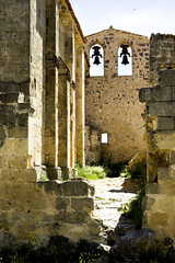 Belfry  (11th century) - Espadaa (siglo XI) (ipomar47) Tags: espaa san pentax steeple belfry segovia hermitage romanesque campanario hoces duraton ermita frutos romanico bulrush espadaa k10d