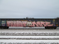Kare, Feust K6A AM (Railroad Rat) Tags: railroad b canada train graffiti am kare freight fr8 markal moniker k6a feust