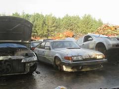 Rover 2600 S. (RUSTDREAMER.) Tags: cornwall rover scrapyard wreck scrap 2600 sd1 rustdreamer