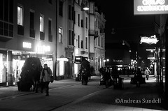 Closing times street (A.Sundell) Tags: bw 50mm blackwhite pentax sweden bokeh swedish uppsala sverige traveling smc nifty the svartvit f17 5017 smca50mmf17 a pentaxk5 thetravelingnifty50mm
