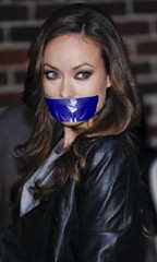 olivia wilde tapegag (Dexter_leather81) Tags: leather olivia fake gagged tapegag