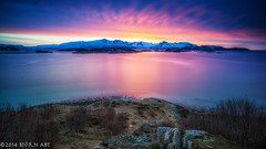 Sommarøy Sunset I (flowed_back) Tags: nature water norway zeiss nikon d800 leefilters zf2 distagont2821 mygearandme mygearandmepremium mygearandmebronze mygearandmesilver mygearandmegold mygearandmeplatinum leethebigstopper lee06hardgnd
