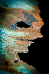On The Edge Of Something (Off The Beaten Path Photography) Tags: abandoned face metal digital rust sony alien rusty creepy forgotten edge rusted rough dslr petina leftbehind a350 sonya350