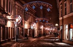 "Night walking. Bielsko-Biała, January 2014 (Smo_Q) Tags: street trip night poland polska polen polonia польша 50f14 波兰 ポーランド 폴란드 ""pentax k5"""
