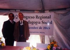 Con el Dr. José María Quintana Cabanas, uno de los más importantes teóricos de la Pedagogía Social. Catedrático de la Universidad Nacional a Distancia de España (UNED). San Martín. Mendoza. 2-3 de Septiembre de 2005.