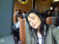 A Selfie of The Tired Traveller (On the Turbojet Ferry going to Macau) (joyful JOY) Tags: china macau