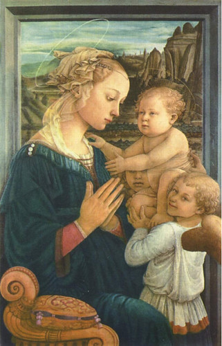 Madonna with the Child and two Angels, Filippo Lippi, 1465, Tempera on Wood, 95 x 62 cm, Galleria degli Uffizi, Florence, Italy.