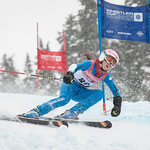Erin DAWSON of WMSC/Canada takes 7th Place in the U14 Girls GS Race held on Whistler Mountain on April 5th, 2014. Photo by James Cattanach - coastphoto.com