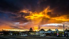 Beautiful sunset (Kathrin & Stefan) Tags: light sunset newzealand sky cloud nature outdoor event taupo lighttrail oxfamtrailwalker