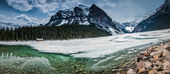 Frozen Lake Louise (Huch5150) Tags: travel mountain lake canada ice nature spring alberta banff lakelousie travelalberta