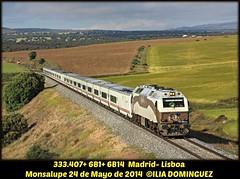idn3873 (ribot85) Tags: train tren trenes trains 333 gl renfe talgo grandeslineas 3334 333407 6b1 talgo6 monsalupe renfeviajeros 6b14 especialeslisboa