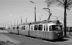 Der damals sechs Monate alte P-Zug 2005/3005 befindet sich am alten Betriebshof 4 auf Rangierfahrt (Sammlung: Freunde des Münchner Trambahnmuseums e.V.) (Frederik Buchleitner) Tags: 2005 subway munich münchen tram ubahn streetcar 3005 trambahn untergrundbahn pwagen fmtm ubahnbau linie6 strasenbahn freundedesmünchnertrambahnmuseums soxlethstrase