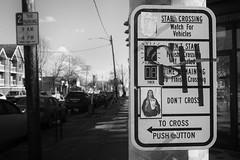 Cross, Don't Cross (mfhiatt) Tags: img85260217jpg desmoines iowa urban street signage sign crosswalk 365the2017edition 3652017 day57365 26feb17