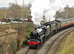 Heywood Lancashire 11th March 2017 (loose_grip_99) Tags: eastlancsrailway elr railway railroad rail train gala heywood lancashire england uk steam engine locomotive lms stanier black5 460 45212 southern bulleid pacific 462 34092 cityofwells preservation transportation gassteam uksteam trains railways march 2017