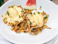 Baja chicken hash (melastmohican) Tags: egg crispy hollandaise sauce brunch cooking toasted breakfast poached tasty plate healthy dish gourmet morning benedict food butter yellow taco cuisine delicious shell meal tortilla fresh cream bowl mexican sandiego california unitedstates us
