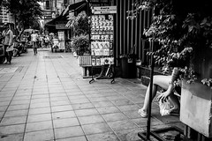 Fair Legs | Bangkok 2016 (Johnragai-Moment Catcher) Tags: people photography blackwhite blackandwhite momentcatcher monocrome bangkokstreet bangkok street streetmoment streetphotography streetlife johnragai johnragaiphotos johnragaistreet johnragaibw