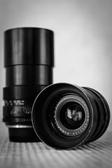 Lens Madness :  vintage Leica primes (Tom Anirae) Tags: leica leitz wetzlar elmarit f28 madeingermany vintage lens manual focus mf old school 135mm 35mm summicron summilux summarit walter mandler design prime photography black white bw noir et blanc noiretblanc optique optical focale teleobjectif grand angle wide