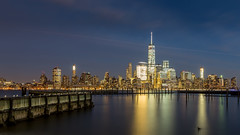 The City of Golden Dreams (Hameed S) Tags: nyc freedomtower bigapple manhattan lowermanhattan newyorkcity newyork longexposure skylines skyscraper sunset skyline canonef24105mmf4lisusm canon canoneos5dmarkiii usa architecture pier travel cityscape