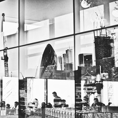 VI (Theo Brainin) Tags: city bw white black reflection london monochrome thames river nikon southbank reflect nikkor d600