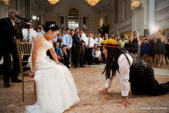 Angela & Derrick Wedding (kevinlamphoto) Tags: wedding toronto ontario canada garter dreadlocks groom bride chinese toss jamaican rastacap arcadiancourt