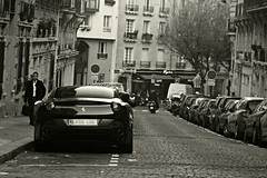 Ferrari California (Marc Kleen) Tags: california street bw white black paris france colour art colors canon photography design italian italia ferrari editing cabrio v8 coup cabriolet 450d