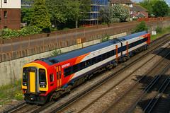 158887, Fratton, June 7th 2013 (Southsea_Matt) Tags: southwesttrains fratton class158 158887 158781 sydenhamterrace