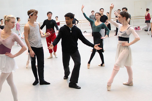 Carlos Acosta working with dancers of The Royal Ballet on Don Quixote © ROH/Ruairi Watson, 2013