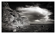Windang Island III (BRIAN WOOD IMAGES) Tags: sky clouds landscapes rocks seascapes australia places cliffs nsw photomerge panoramics windang illawarra windangisland