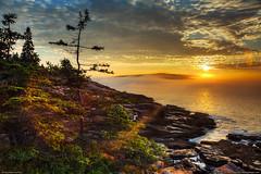 Acadia National Park Sunrise (Greg from Maine) Tags: ocean seascape nature clouds sunrise landscape nationalpark waves maine newengland barharbormaine acadia barharbor mountdesertisland mdi acadianationalpark bestcapturesaoi