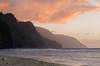The Na Pali Coast from Ke'e Beach (Tōn) Tags: ocean sunset mountains beach clouds hawaii unitedstates pacific pacificocean kauai waterscape keebeach napalicoast tonyvanlecom