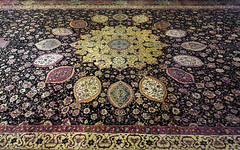 Ardabil Carpet, center detail (close)