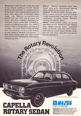 1971 Mazda Capella Rotary Sedan Aussie Original Magazine Advertisement (Darren Marlow) Tags: 1 7 9 19 71 1971 m mazda c capellar rotary s sedan car cool collectible collectors classic a automobile v vehicle j jap japan japanese asian asia 70s