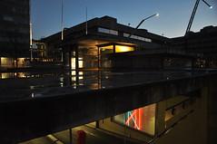 Parking light (Luc Wiltschut) Tags: city winter light holland netherlands night dark licht nacht parking nederland eindhoven stad stadhuis donker parkeergarage stadhuisplein