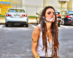Patterson Park (ozoni11) Tags: city girls urban woman girl model nikon women cigarette smoke streetphotography maryland baltimore nik cigarettes hdr pattersonpark raunchy cigarettesmoke michaeloberman ozoni11