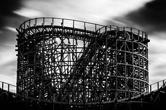 The Old Wooden Roller Coaster