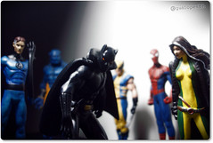 Marvel Heroes (Gui Lopes BH) Tags: man black classic reed spider fantastic mr collection figurines beast rogue marvel panini richards panther wolverine chumbo eaglemoss guilopesbh