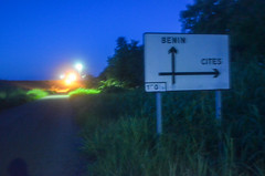 20130925-DSC_2642 (jbdodane) Tags: africa road bicycle sign night cycling dam cit togo velo cyclotourisme day326 cycletouring nangbeto freewheelycom