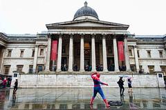 Spiderman, The National Gallery (Eric Seibert) Tags: london spiderman nationalgallery superhero artmuseum ericseibert vision:night=077