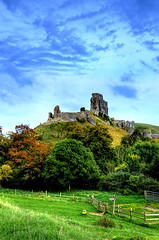 Corfe Castle (AFEXPhotography) Tags: autumn building tree castle nature field leaves architecture landscape photography nikon ruins structure dorset corfe swanage weymouth hdr corfecastle photomatix d7000 nikond7000 stswilliams