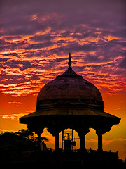 Fuego en el cielo - Fire in the Sky (*atrium09) Tags: sunset india color colors architecture clouds atardecer arquitectura nubes cupula hdr atrium09 rubenseabra